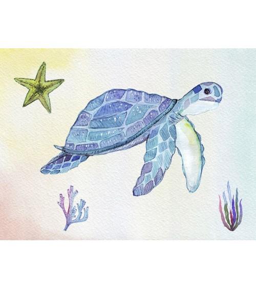 uređenje dečije sobe, morski stil, kornjača, morska zvezda