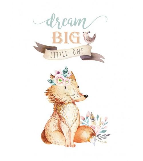 dream big, lisica slike, posteri za dečiju sobu