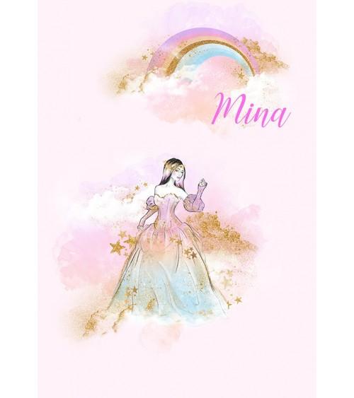 princeza u oblacima personlaizovani poster