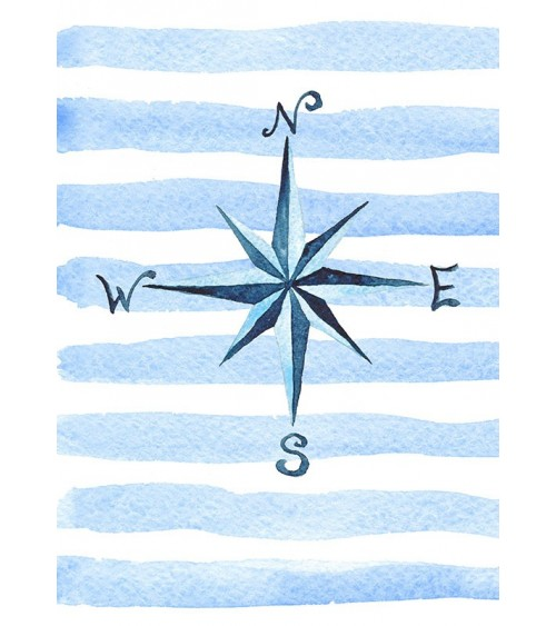 morski kompas poster za morski stil u enterijeru