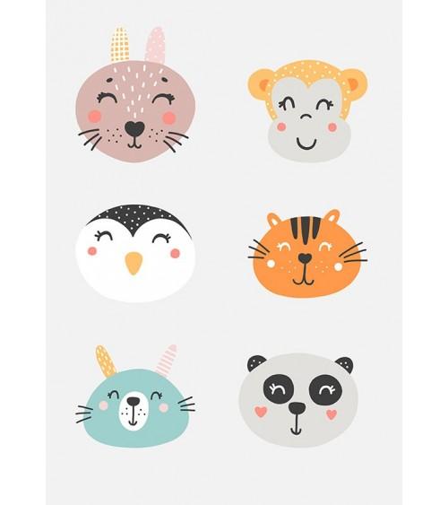 životinje slike za dečiju sobu