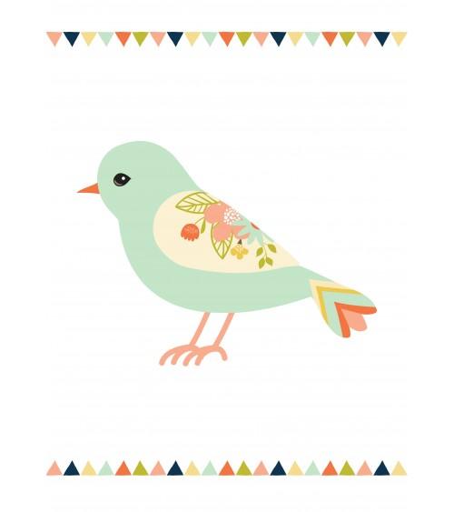 ptičica i zastavice