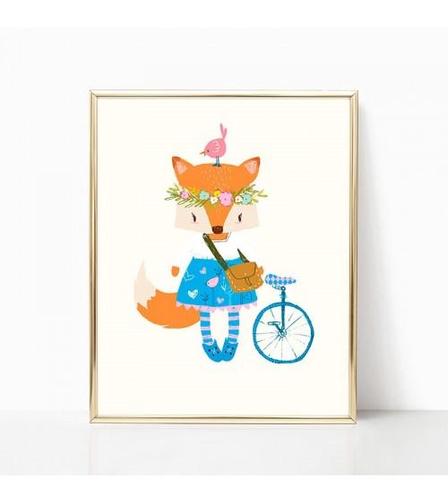 lisica i bicikla