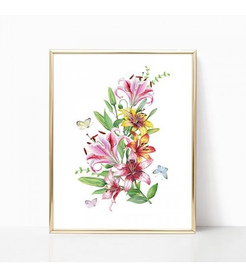 buket od lilijana slike