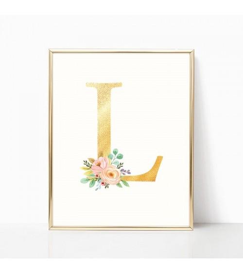 dekorativna slova zlatna