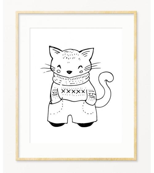 Mačak posteri za bebin kutak