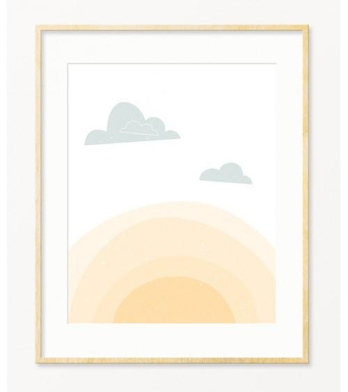 Sunce skandinavske slike za deciju sobu