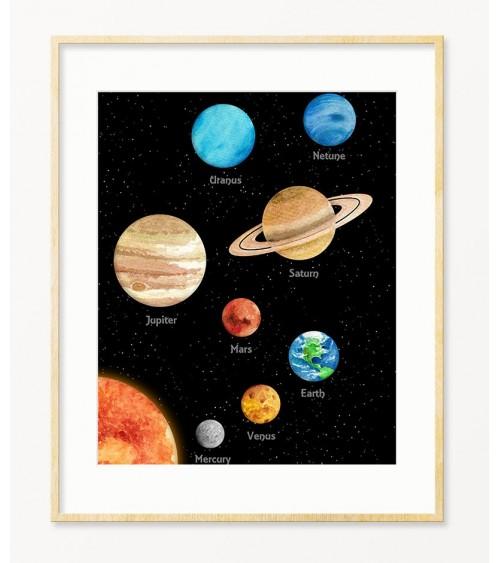 Poster za zid za decu sa temom Svemir