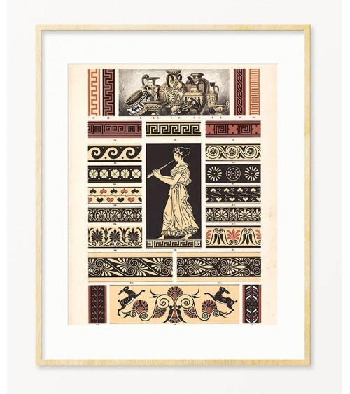 Ornamenti Grčkog carstva posteri za uramljivanje
