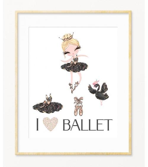 Mala balerina Crni Labud zidne slike  za enterijer dečije sobe