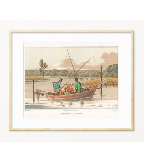 Originalan poklon za ribolovca - uramljena slika sa temom RIBOLOV