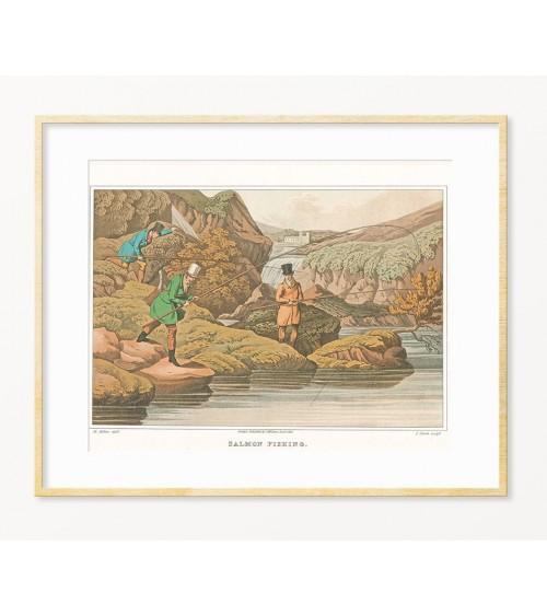 Originalan poklon za ribolovca - uramljeni poster sa temom RIBOLOV U ENGLESKOJ