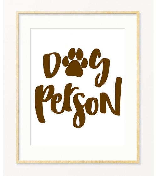 Posteri za zid DOG PERSON