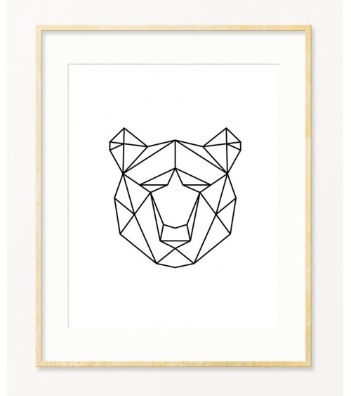 Medved crno beli savremeni posteri za zid