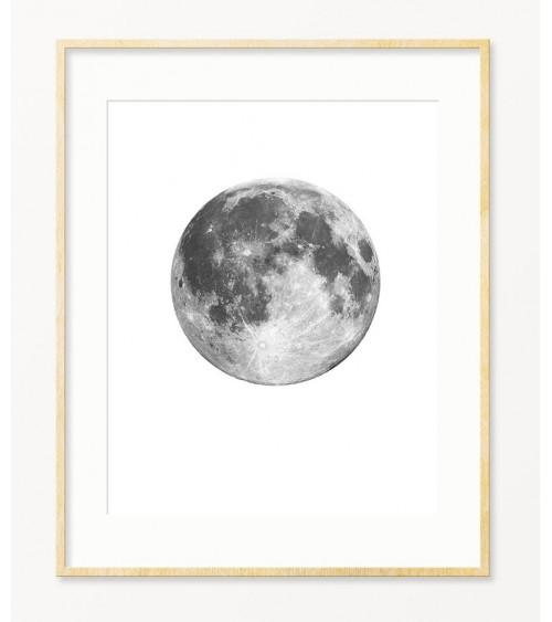 Crno bele fotografije MESECA za zid