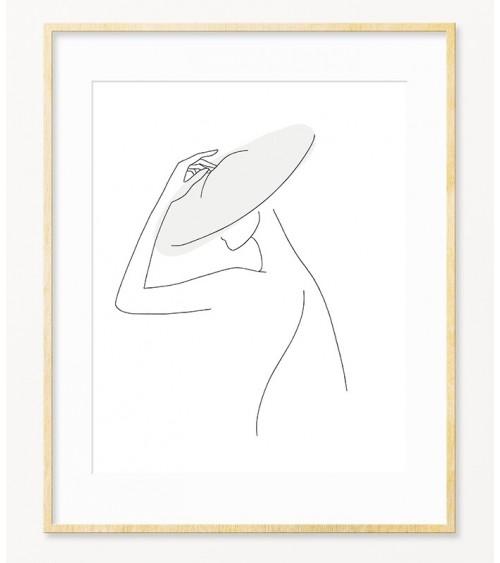Posteri minimalistični crno beli za dnevnu sobu
