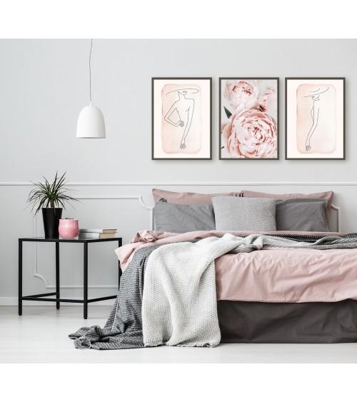 Komplet postera za uramljivanje za spavaću sobu