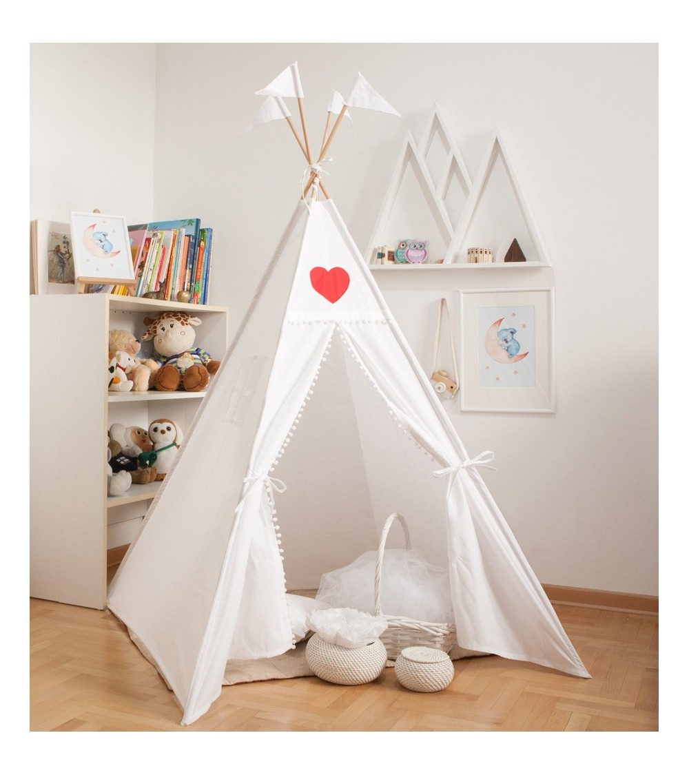 beli šator vigvam