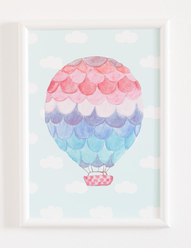 poster za dečiju sobu vazdušni balon