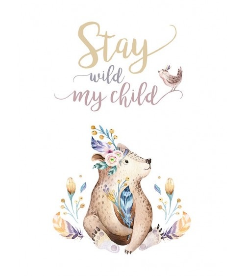 stay wild, meda slike, dečije sobe