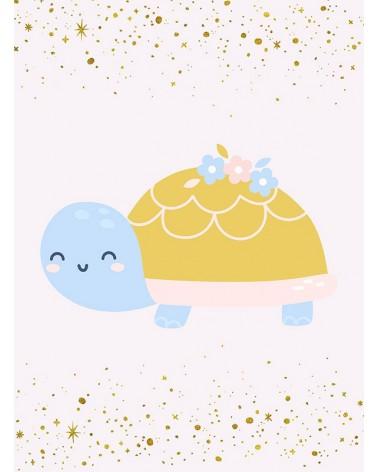 Kornjača - savremeni poster za bebinu sobu