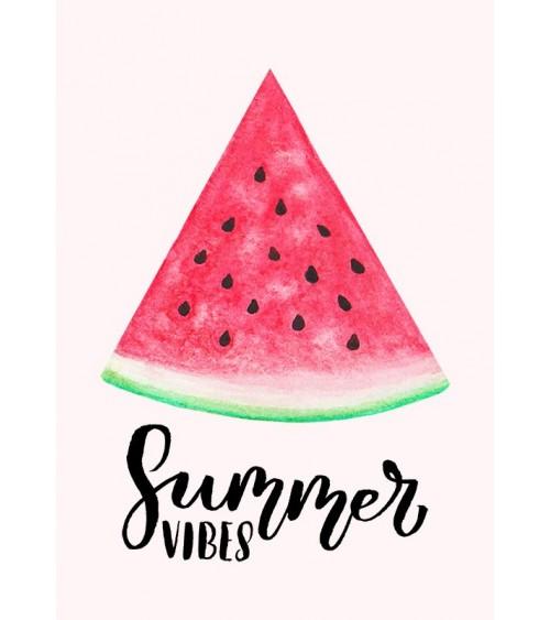 Summer vibes poster lubenica za kuhinju