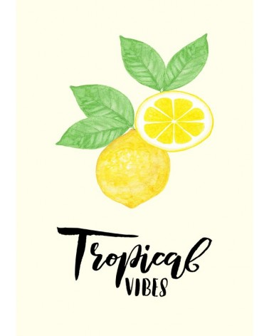 Limun tropical vibes poster