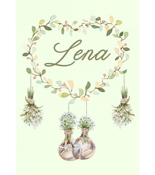 personalizovani poster sa cvećem za devojčicu i karte rođenja