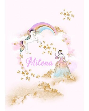 jednorog princeza personalizovani poster