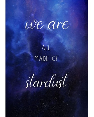 posteri sa citatom we are all made of stardust