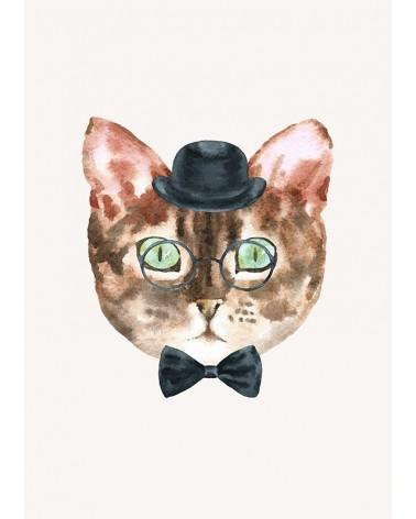 mačak u šeširu slike za dečiju sobu