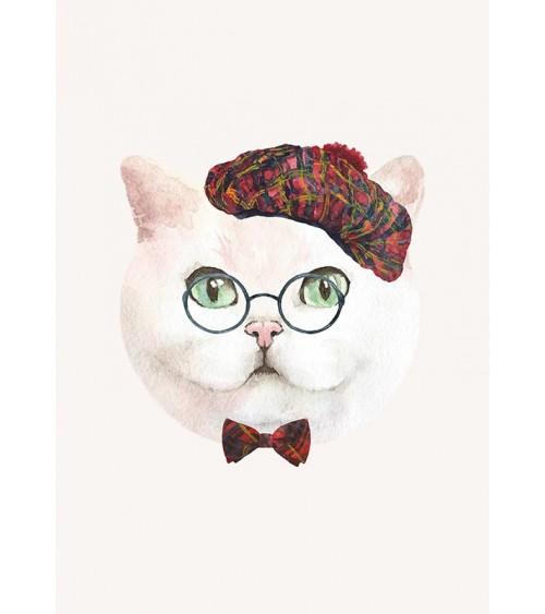mačak u naočarima