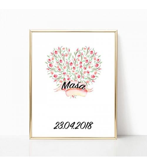 srce od cveća