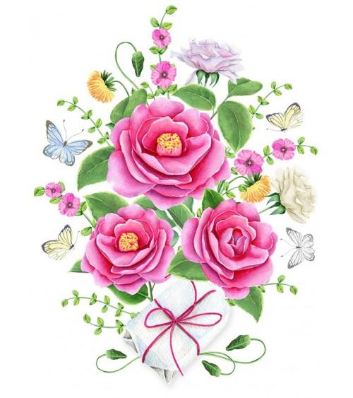 roze ruže slike za sobu