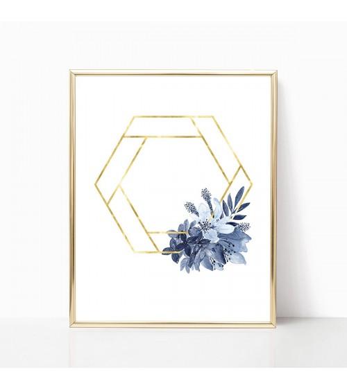 zlatni okvir cveće