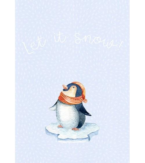 pingvin sneg slike