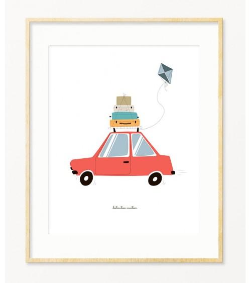 Slike i posteri za zid dečije sobe sa autićima