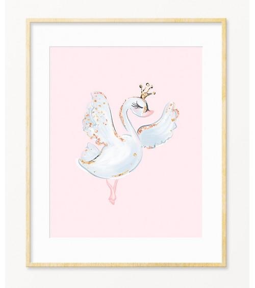 Slike i posteri labuda za dekoraciju dečije sobe devojčice