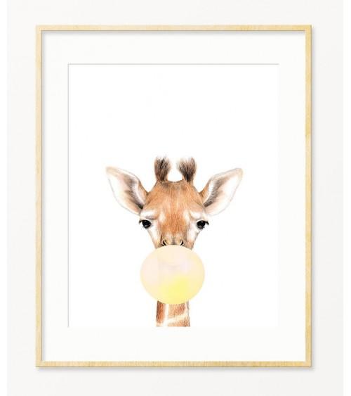Žirafa sa žutim balonom