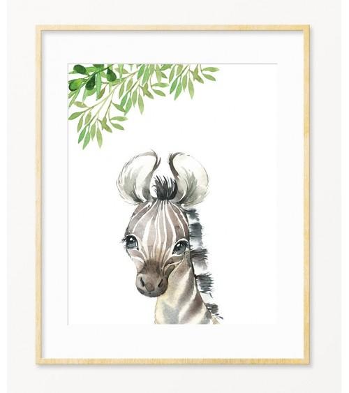 Zebra fine slike i posteri za zid bebine sobe