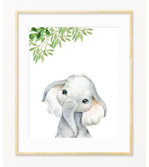 Slonče dekoracije i slike za bebine sobe