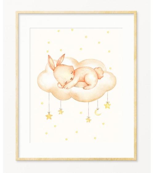Zeka na oblaku zidne slike za bebinu sobu