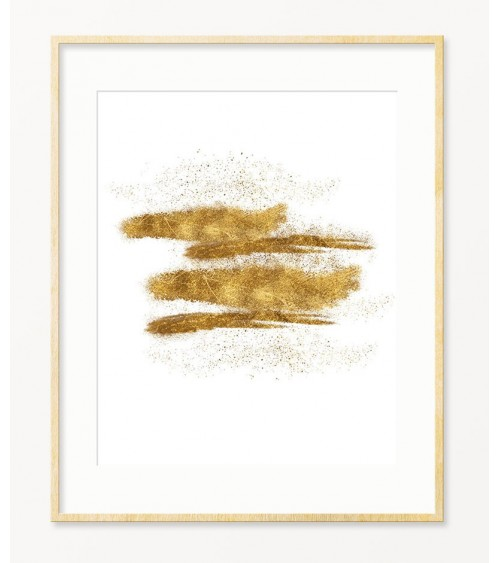 Zlatni poster za dnevnu sobu