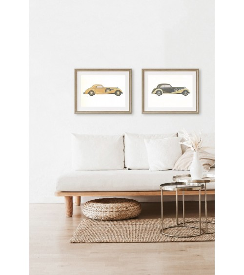 Retro automobili set postera za uramljivanje