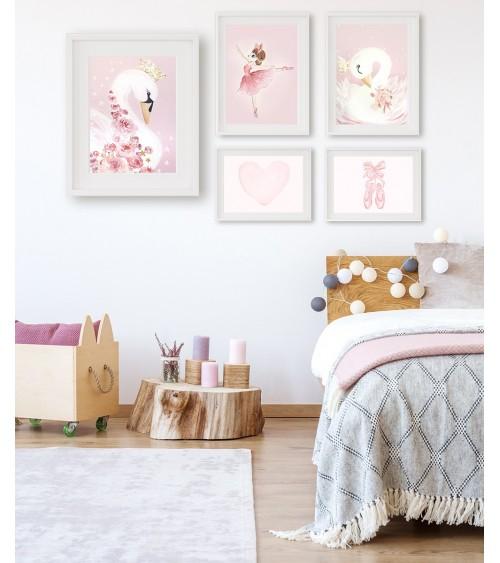 Set postera za uramljivanje za dečiju sobu sa temom BALERINA
