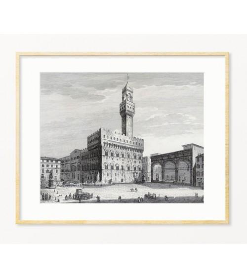 Gradski pejzaži Firence žikle print za enterijer
