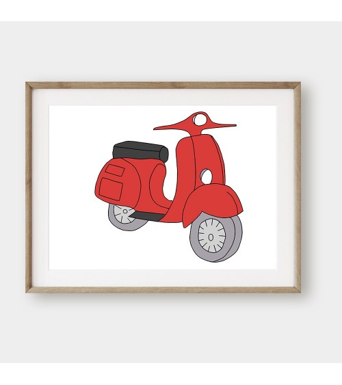 Slike i posteri za decu CRVENI MOTOCIKL