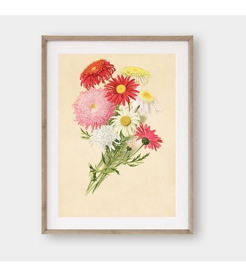 Lepa kata žikle printovi sa temom cveće