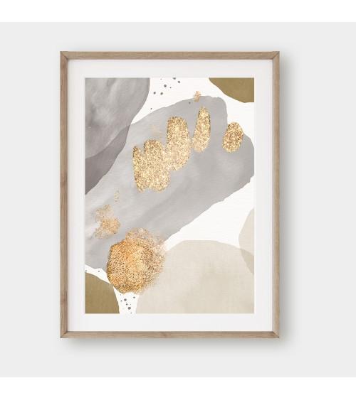 Zlatne apstrakcije poster